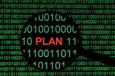 Plan on binary dat — Stock fotografie