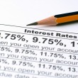 Stock Photo: Interest rates