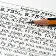 Interest rates — Stock Photo