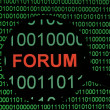 Internet forum — Stock Photo