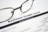 Business credit card application — Stock Photo