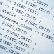 Html source codes — Stock Photo