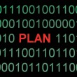 Plan on binary data — Stock Photo
