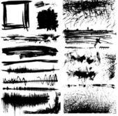 Ensemble de taches de peinture grunge — Vecteur