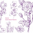 Set of hand drawn flowers — Stock Vector #10504753