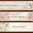 Set of banners with flowers — Stock Vector