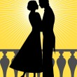 Royalty-Free Stock Vector Image: Silhouette of man and woman in love