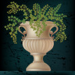 Vector illustration of antique amphora — Vector de stock #8680777