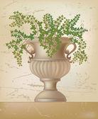Vector illustration of antique amphora — Stock Vector