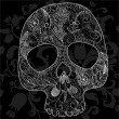 Stock Vector: Skull lace