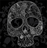 Skull lace — Stock Vector