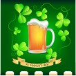 Banner with mug of beer — Stock Vector