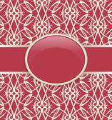 Rétro couverture rouge ornée d'art — Vecteur
