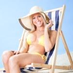 Beautiful young woman in bikini — Stock Photo #9192021