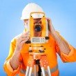 Senior land surveyor with theodolite — Stock Photo #9632377