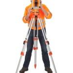 Senior land surveyor with theodolite — Stock Photo #9632572