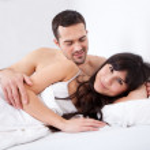 Lovely young couple sleeping — Stock Photo #9858676