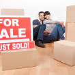 Couple moving into new house — Stock Photo #9859512
