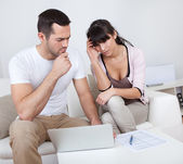 Young couple in financial trouble — Stock Photo