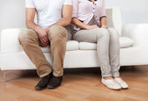Young couple in quarrel at home — Stock Photo