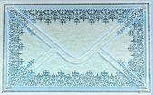 голубой конверт — Стоковое фото
