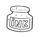 Ink bottle — Stock Vector