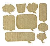 Bańka mowy z recyklingu papieru — Zdjęcie stockowe