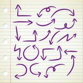 Arrow doodle — Stock Vector