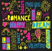 Valentine doodle — Stock Vector