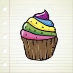 Doodle cupcake — Stock Vector #9157058