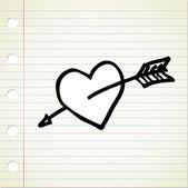 Doodle heart — Stock Vector