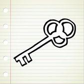 Doodle clave — Vector de stock