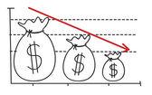 Loss graph — Stock Vector