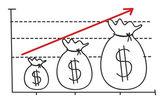 Profit graph — Vetor de Stock