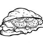 Sandwich doodle — Stock Vector #9560631