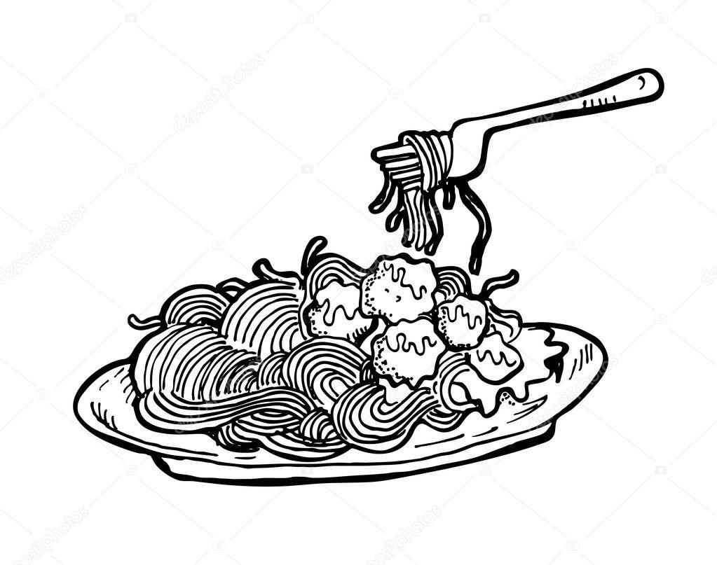 pasta black and white clipart wwwimgkidcom the image