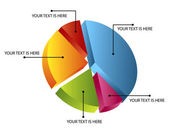 3d pie chart — Stockvector