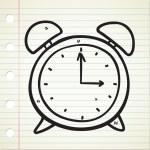 Clock doodle — Stock Vector #9650491