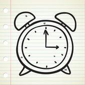 Doodle horloge — Vecteur