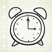 Doodle orologio — Vettoriale Stock