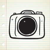 Camera doodle — Stock Vector