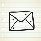 Envelope doodle — Stock Vector