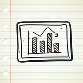 Decrease graphic chart — Stock Vector
