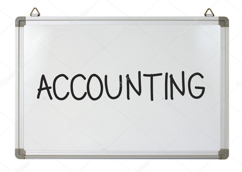 Accounting word written on whiteboard  Stock Photo #9722248