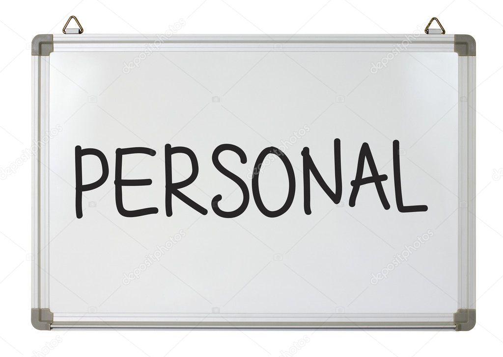 word personal whiteboard mhatzapa depositphotos
