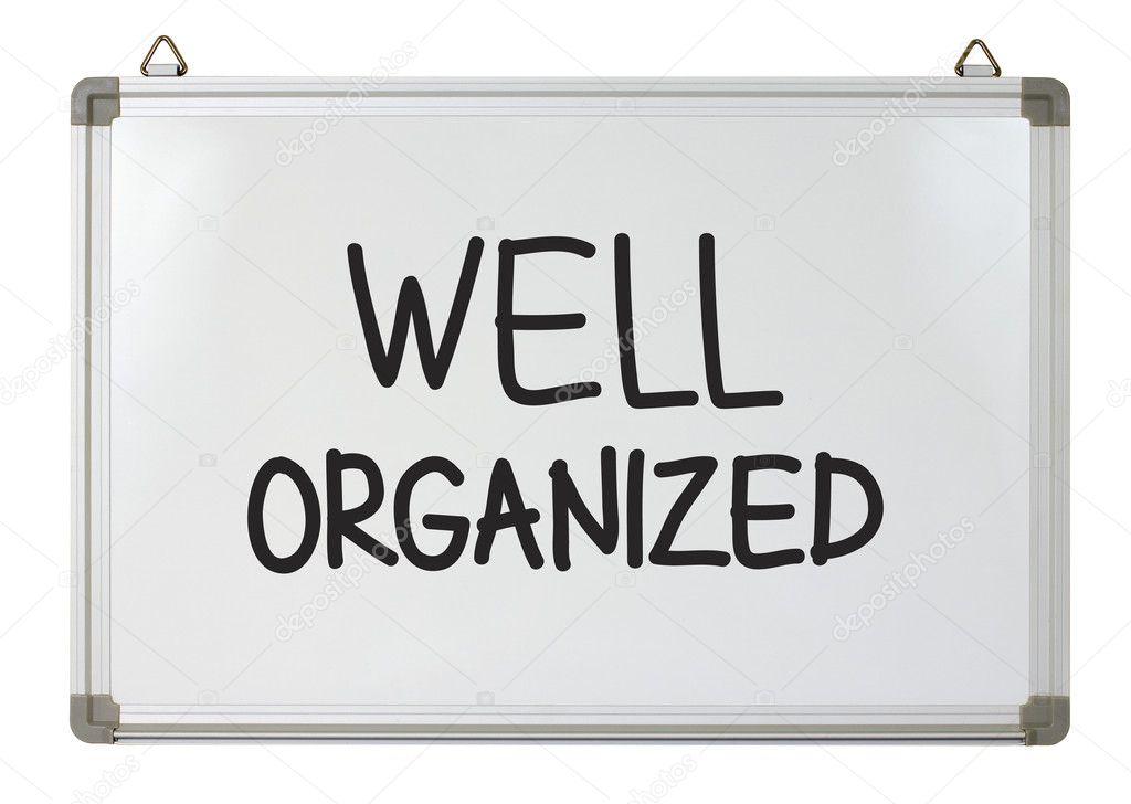Well organized word on whiteboard — Stock Photo © mhatzapa ...