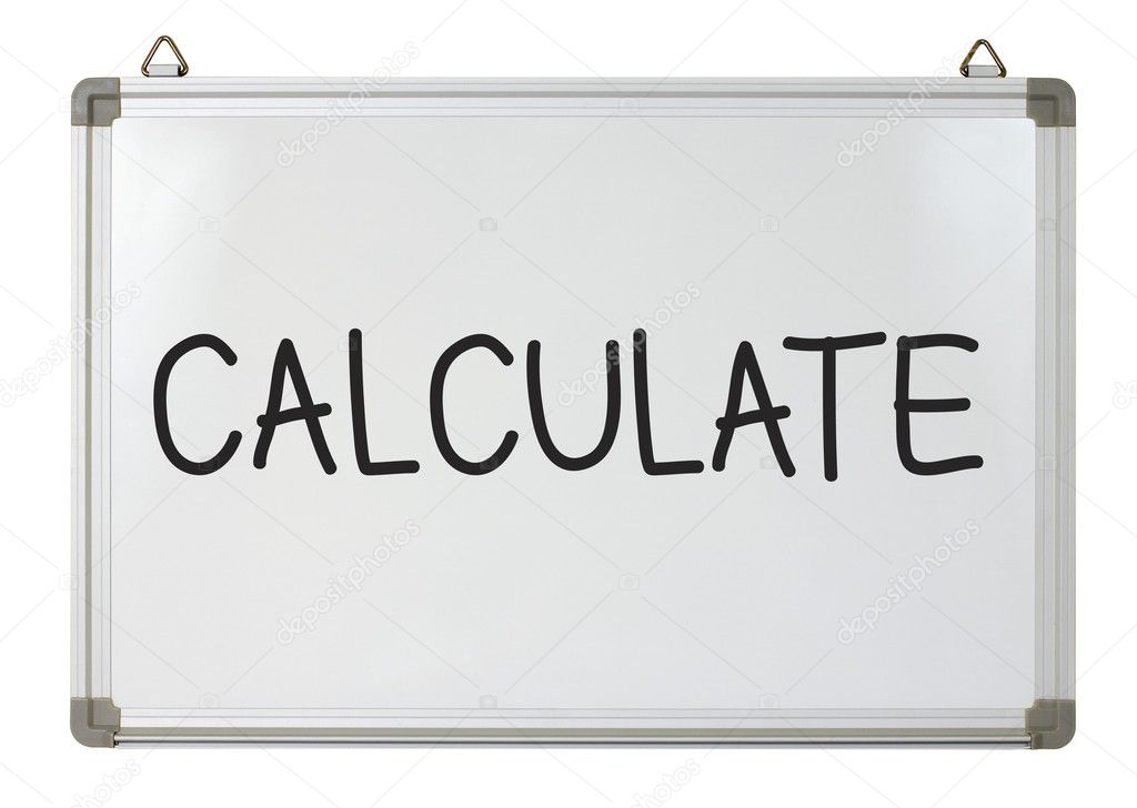 Calculate word written on whiteboard  Stock Photo #9762220