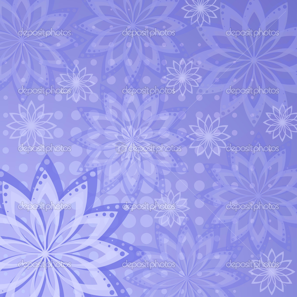 Abstract floral violet background with white flowers contours — Stock Photo #10379322