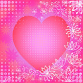 Background with valentine heart — Stock Photo