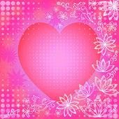 Fondo con corazón de san valentín — Foto de Stock